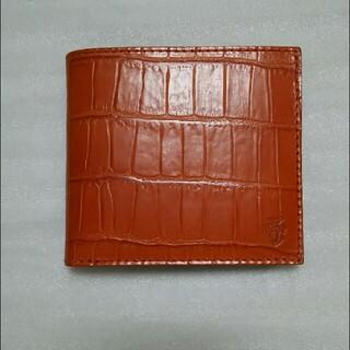 フェリージ(Felisi)のFelisi フェリージ 二つ折り財布 452 (オレンジ) クロコ 型押し(財布)