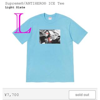 シュプリーム(Supreme)のSupreme ANTIHERO ICE Tee 水色 L(Tシャツ/カットソー(半袖/袖なし))