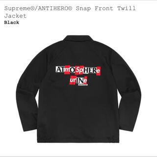Supreme - supreme ANTIHERO Snap Twill Jacket 黒M
