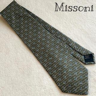 ミッソーニ(MISSONI)のMissoni 高級シルク 小紋 総柄 ネクタイ レトロ(ネクタイ)