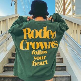 ロデオクラウンズワイドボウル(RODEO CROWNS WIDE BOWL)の新品グリーン※早い者勝ちノーコメント即決しましょう❗️ご決断お急ぎください…(トレーナー/スウェット)