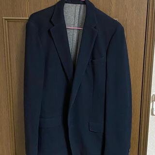 テーラード ジャケット スーツ ネイビー ニット素材(テーラードジャケット)