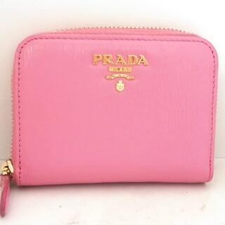 プラダ(PRADA)のプラダ コインケース - ピンク レザー(コインケース)