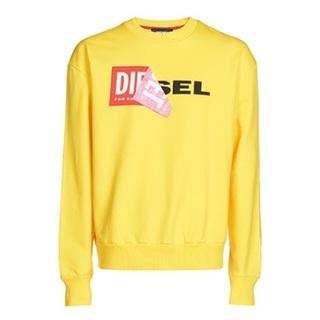 ディーゼル(DIESEL)のDiesel スウェット ロゴ イエロー  M ディーゼル(スウェット)