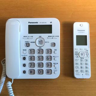 Panasonic - 【美品・動作確認】パナソニック 電話機 VE-GD35-W + 子機