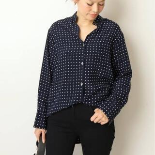DEUXIEME CLASSE - ドゥーズィエムクラス  BIBDA silkドットプリントシャツ