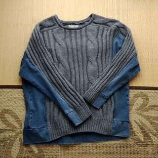 百貨店購入 美品デニム可愛いニット(ニット/セーター)