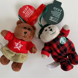 スターバックスコーヒー(Starbucks Coffee)のスターバックス  ベアリスタのクリスマスオーナメント ペア(その他)
