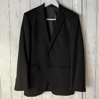 バーニーズニューヨーク(BARNEYS NEW YORK)のONLY ブラック スリーピース スーツ 170Y セミオーダー 黒 高級生地(セットアップ)