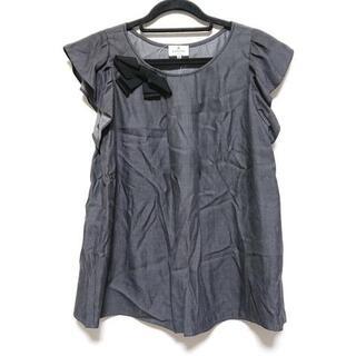 ランバンオンブルー(LANVIN en Bleu)のランバンオンブルー 半袖カットソー 38 M -(カットソー(半袖/袖なし))