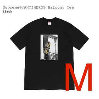 シュプリーム(Supreme)のSupreme®/ANTIHERO®シュプリーム Balcony Tee 黒M(Tシャツ/カットソー(半袖/袖なし))