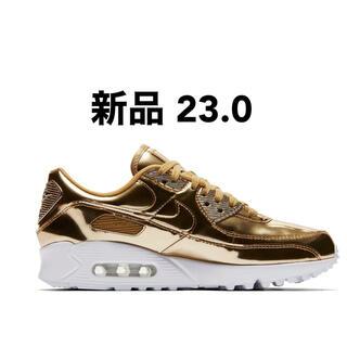 ナイキ(NIKE)の新品未使用 Nike Wmns Air Max 90 SP W6 gold(スニーカー)