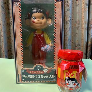 ペコちゃん ミニ 店頭ペコちゃん人形 & 復刻版 ポップキャンディ瓶入り