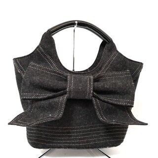 ケイトスペードニューヨーク(kate spade new york)のケイトスペード ハンドバッグ美品  - 黒(ハンドバッグ)