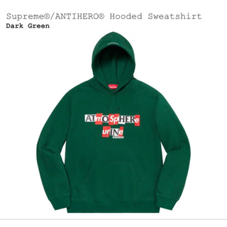 シュプリーム(Supreme)のsupreme ANTIHERO Hooded Sweatshirt(パーカー)