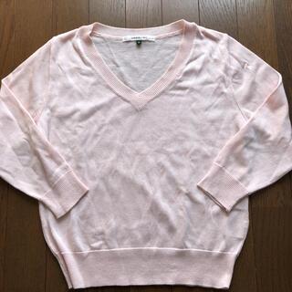 アンレリッシュ(UNRELISH)の【新品】ピンク♡トップス♡Vネック ニット(ニット/セーター)