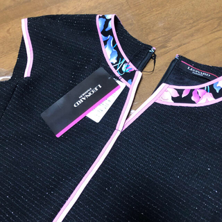 LEONARD - ■新品 レオナール ワンピース レア 上品ラメトゥイード