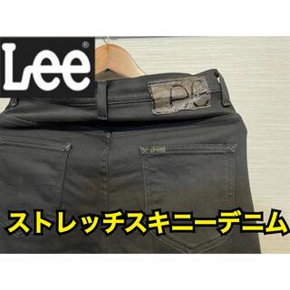 Lee - lee 0366 ストレッチ スキニー デニム S リー 黒 ブラック パンツ