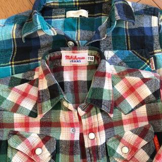 ミキハウス(mikihouse)のネルシャツ 110 男児 チェック シャツ ミキハウス ハッシュアッシュ(ジャケット/上着)