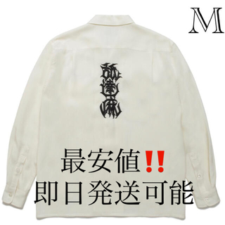 ワコマリア(WACKO MARIA)のM 白 ワコ マリア × 舐達麻 ロングスリーブシャツ(シャツ)