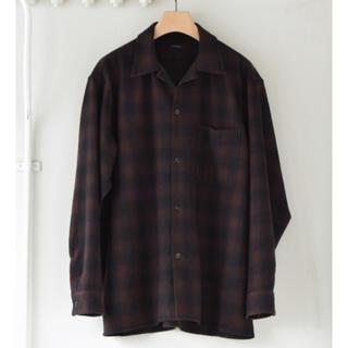 COMOLI - 【20AW/新品】comoli ウールチェック オープンカラーシャツ ブラウン