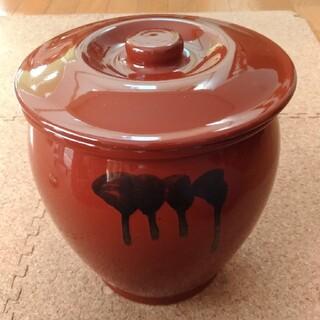 レア★久松窯 陶器 味噌かめ 漬物容器 甕  3号