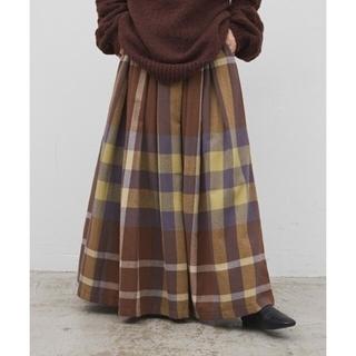 antiqua - Libra 2020/AW ビックチェックボリュームスカート