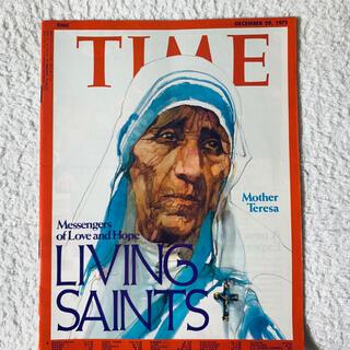 ジャニーズ(Johnny's)の【激レア!】Time ニュース雑誌 1970年代 マザーテレサ 超美品!(音楽/芸能)