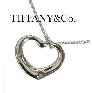Tiffany & Co. - ティファニー TIFFANY オープンハート ネックレス シルバー