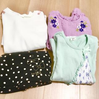 ニットプランナー(KP)の120㎝ お洋服セット 女の子 KP simple free(Tシャツ/カットソー)