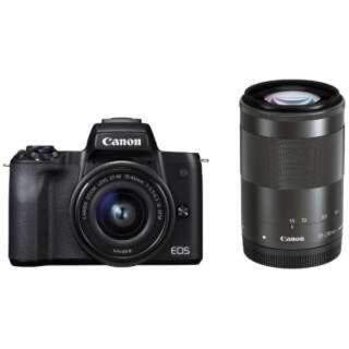 Canon - Canon EOS kiss M ダブルズームキット 黒 ブラック