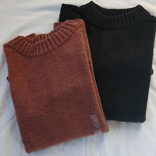 ユニクロ モックセーター ブラックブラウン2着セット 未使用