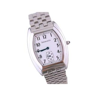 Tiffany & Co. - ティファニー スモールセコンド レディース トノー 白文字盤 クォーツ 時計