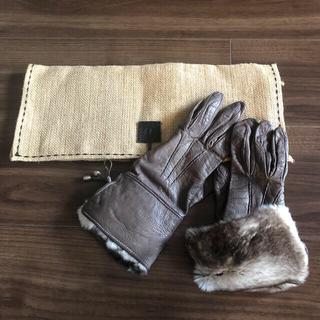 アパルトモンドゥーズィエムクラス(L'Appartement DEUXIEME CLASSE)のgeorges morand paris ファー  レザー グローブ 革手袋(手袋)