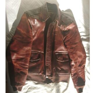 バンソン(VANSON)のバンソン A2ジャケット(38)ホースハイド 茶色(レザージャケット)