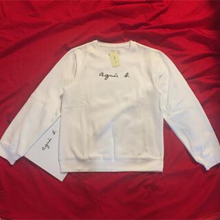 アニエスベー(agnes b.)のagnes b.M定番白ロゴアニエス・ベー スウェット(トレーナー/スウェット)
