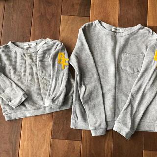 ベベ(BeBe)の[BUZZ FUZZ]ワッフルロンTセット(Tシャツ/カットソー)