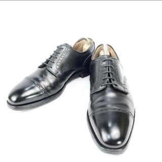 クロケットアンドジョーンズ(Crockett&Jones)の【美品】クロケットジョーンズ ストレートチップ 外羽根 革靴(ドレス/ビジネス)