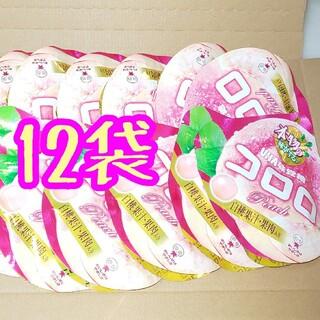ユーハミカクトウ(UHA味覚糖)の12袋❇️桃味❇️コロロ❇️UHA味覚糖(菓子/デザート)