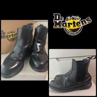 Dr.Martens - ドクターマーチン フローラ ブラックレザー ブーツ
