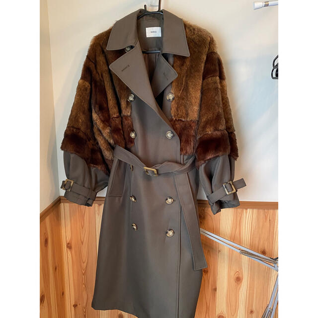 MURUA(ムルーア)のムルーア ロングダブルトレンチ レディースのジャケット/アウター(トレンチコート)の商品写真