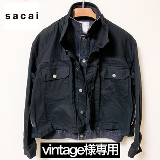 sacai - sacai 20SS レイヤードデニムジャケット(ブラック)
