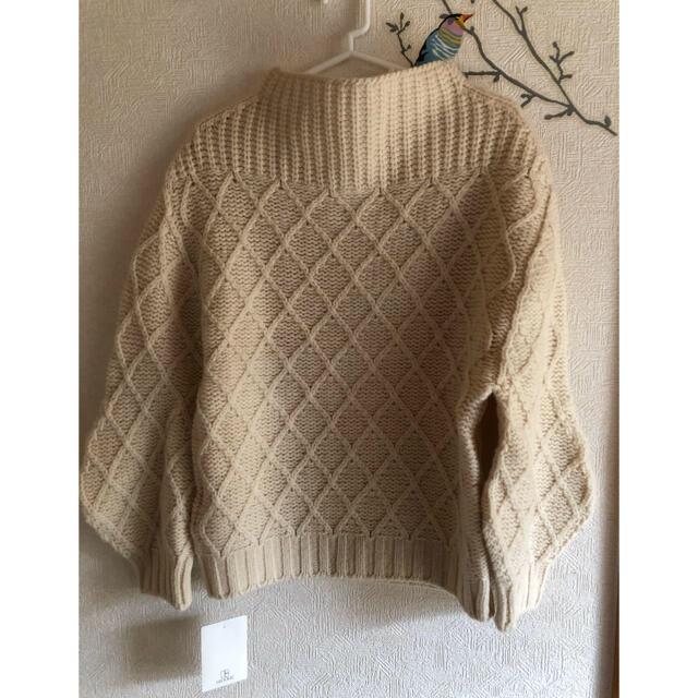 IENA(イエナ)のイエナ オフホワイト ニット レディースのトップス(ニット/セーター)の商品写真