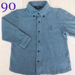 コムサイズム(COMME CA ISM)のコムサイズム  ポロシャツ  グレー 90(Tシャツ/カットソー)