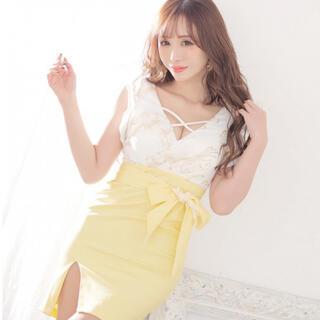 ジュエルズ(JEWELS)のjewels フリルスリーブ クロスデザイン リボンベルトタイトドレス(ナイトドレス)