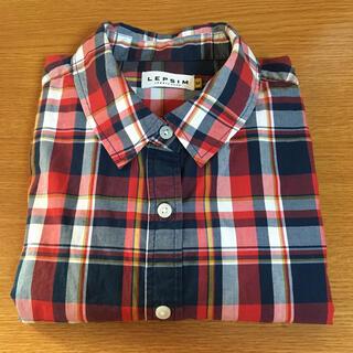 LEPSIM - LEPSIM チェックシャツ 長袖 コットンシャツ