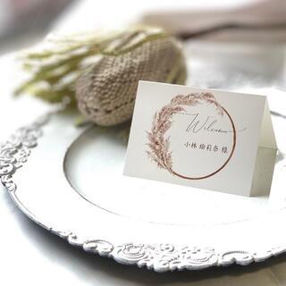 ❇︎席札❇︎ Wedding  ~パンパスグラスⅡ~  1枚70円