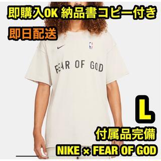ナイキ(NIKE)のL ナイキ フィアオブゴッド ウォームアップ Tシャツ オートミール(Tシャツ/カットソー(半袖/袖なし))