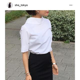 【美品】she tokyo / ブラウス ホワイト 0