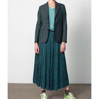 Drawer - 新品未使用 Drawer ドゥロワー シルクプリントロングスカート